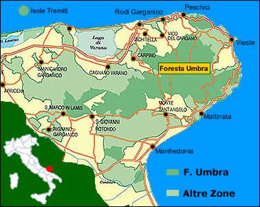 Cartina Puglia Zona Gargano.Parco Nazionale Del Gargano